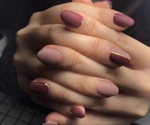 nail, nail polish, and red image