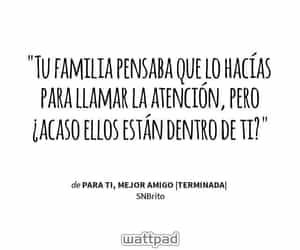 frases, depresion, and wattpad image