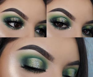 beauty, eye makeup, and glitter image