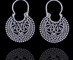 fashion jewelry, fashion earrings, and hoop jewelry image