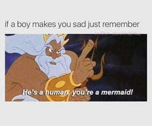 disney, funny, and mermaid image