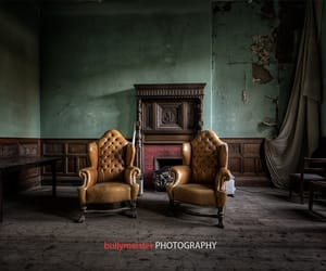 abandoned, decay, and fireplace image