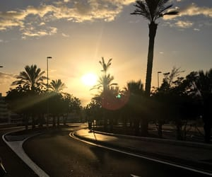 canary islands, clouds, and palm trees image