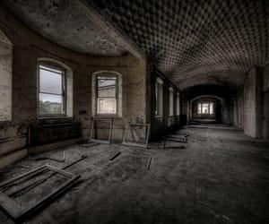 abandoned, asylum, and corridor image