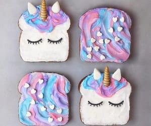 unicorn, food, and toast image