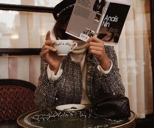 coffee, book, and fashion image
