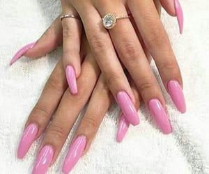 beauty, pink, and fakenails image