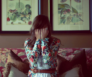 girl and floral image