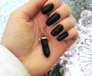 black, nails, and اسود image