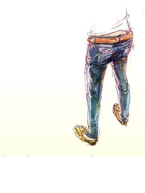illustration and jeans image