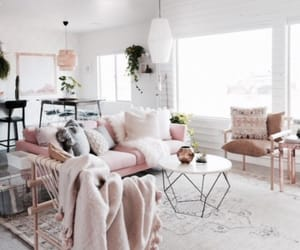 chair, pink, and sofa image