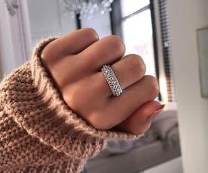 girl, ring, and diamond image