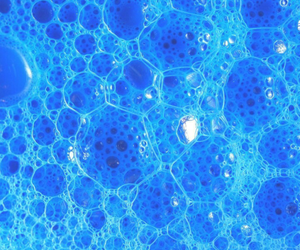 blue, bubbles, and wallpaper image