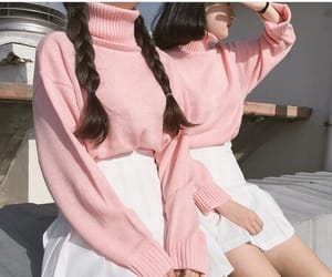 asian girls, clothes, and pink image