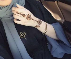 hijab, hannah, and henna image