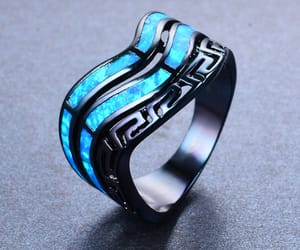 black, blue, and ring image