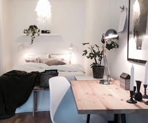 aesthetic, bedroom, and black image