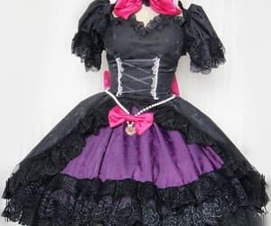 video game cosplay, lolita dress cosplay, and black cat dva dress image