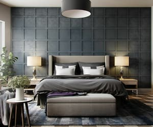 bedroom, black, and dark image