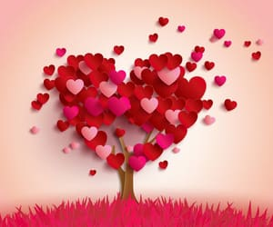 love, hearts, and tree image