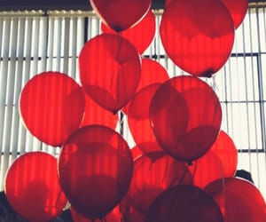 red, balloons, and color image