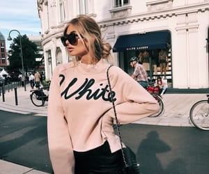 blonde, paris, and sweater image