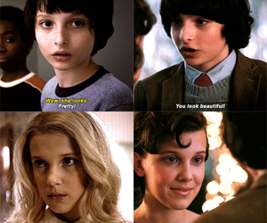 eleven, mike, and stranger things image