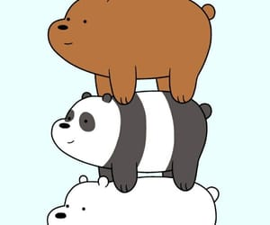 bear, cartoon, and panda image