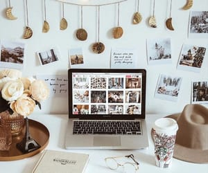 decor, desk, and style image
