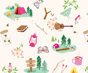 background, butterfly, and camp image