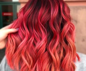 curly hair, dyed hair, and pink hair image