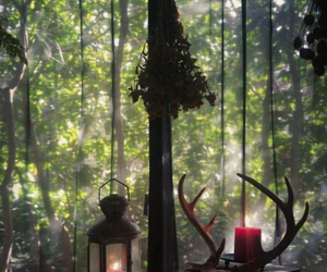 candles, herbs, and home image