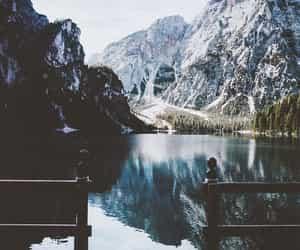 lake, photography, and landscape image