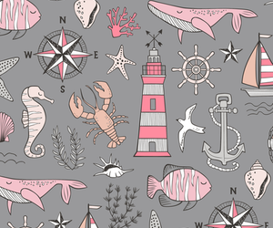 anchor, background, and doodle image