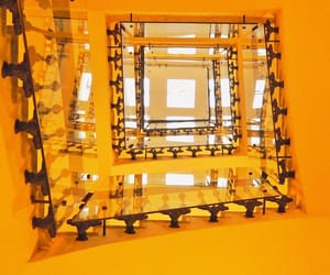 orange, staircase, and stairs image