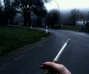 cigarette, grunge, and road image
