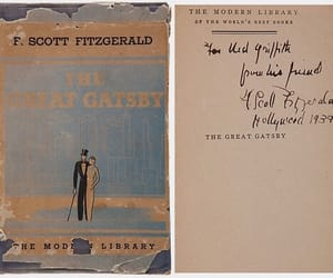 book, the great gatsby, and fitzgerald image