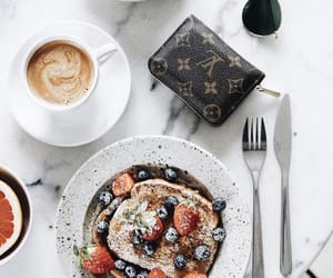 food, coffee, and wallet image