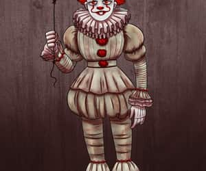 clown, drawing, and pennywise image