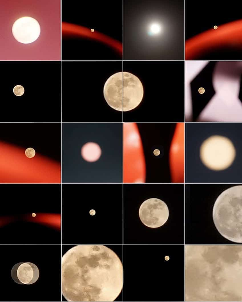 Collage, moon, and photography image