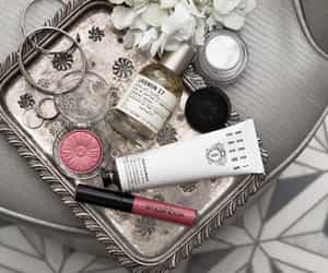 flowers, jewellery, and make up image