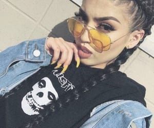 glasses, braids, and hair image