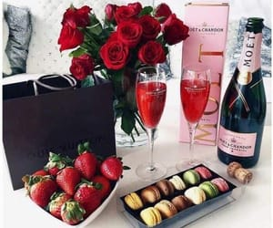 strawberry, rose, and luxury image