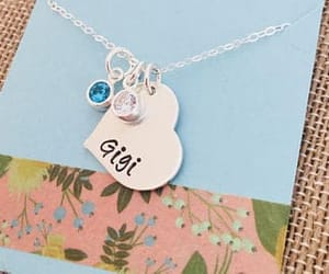etsy, hand stamped jewelry, and birthstone jewelry image