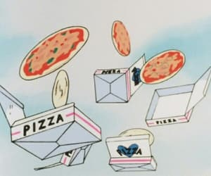 pizza, food, and anime image