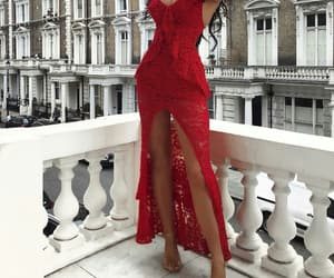 red dress, girls goals, and fashion style image
