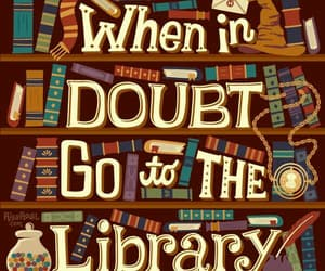 book, harry potter, and library image
