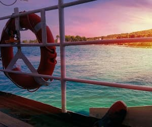 boat, sunset, and colourful image