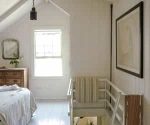 country living, home decor, and attic bedroom image