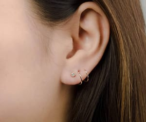 delicate, earrings, and girl image